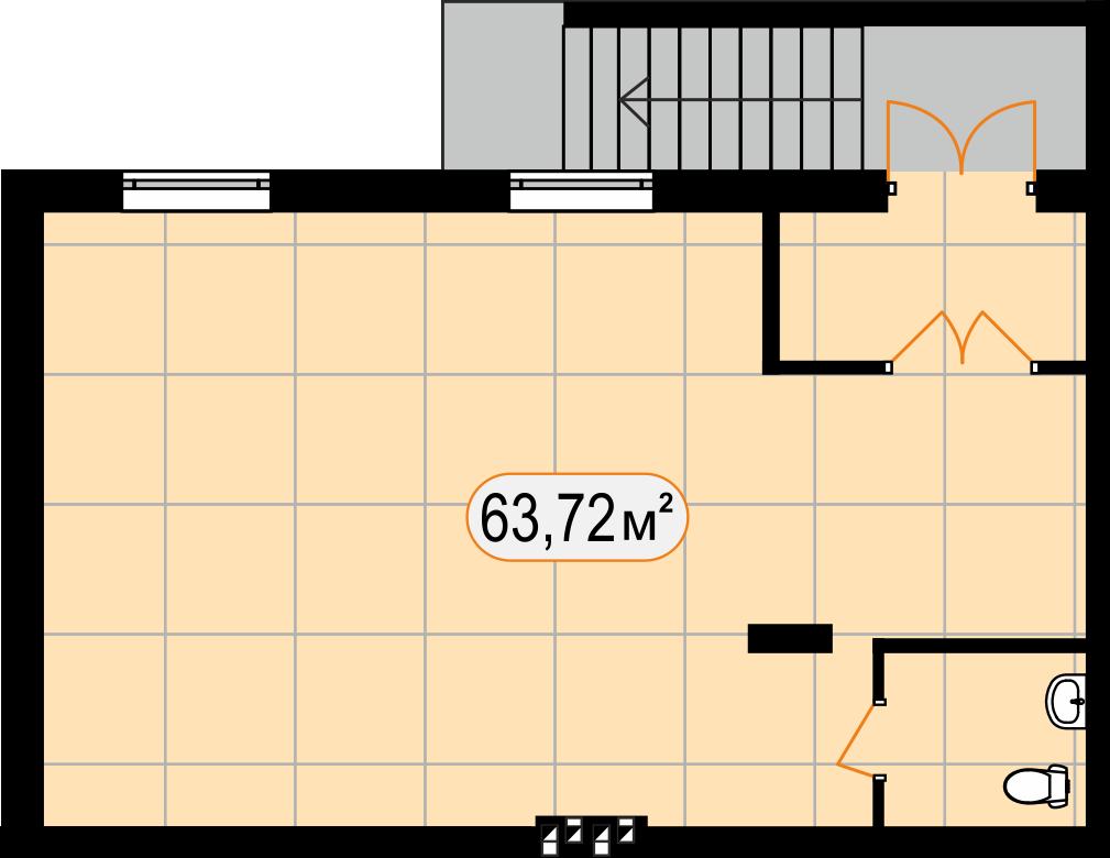 Комерційна нерухомість 63,72 м2