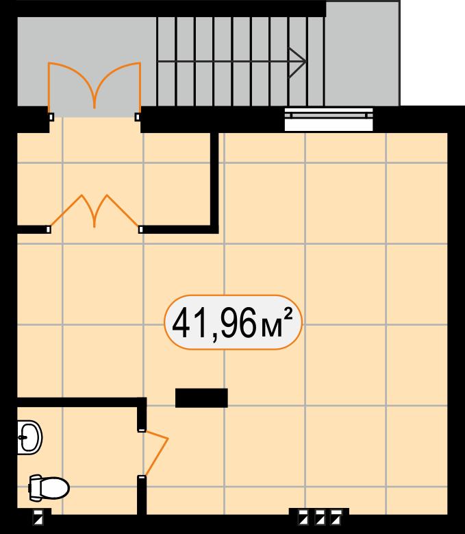 Комерційна нерухомість 41,96 м2