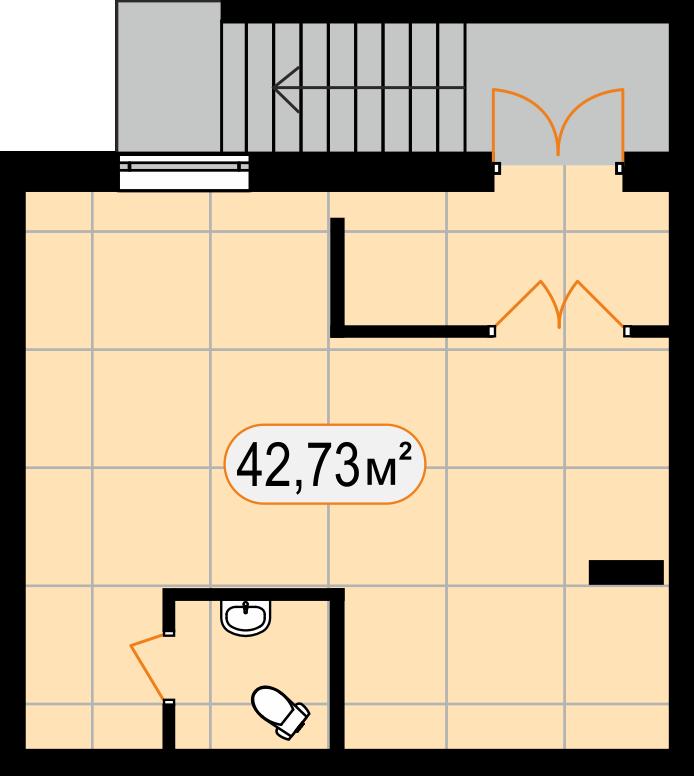 Комерційна нерухомість 42,73 м2