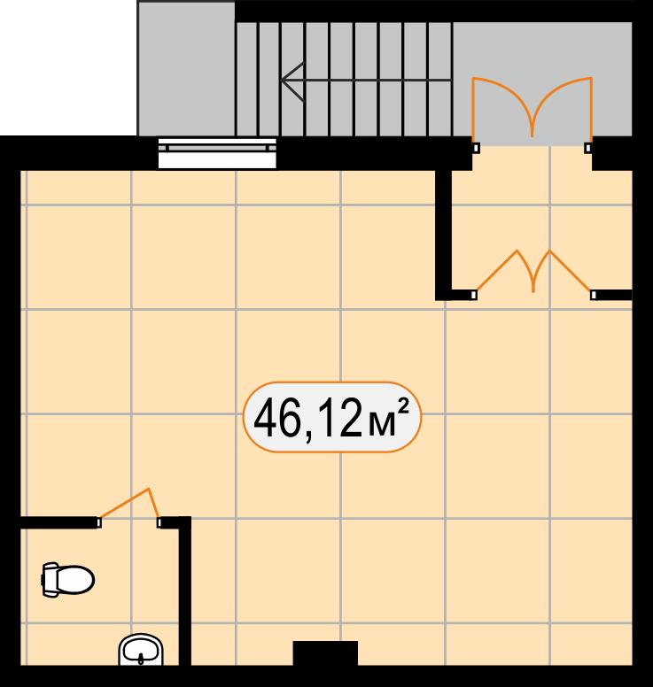 Комерційна нерухомість 46,12 м2