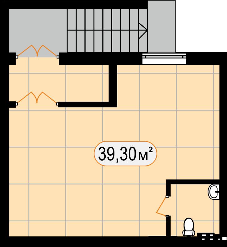 Комерційна нерухомість 39,30 м2