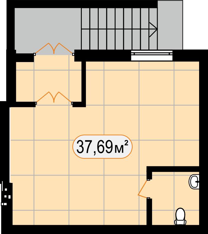 Комерційна нерухомість 37,69 м2