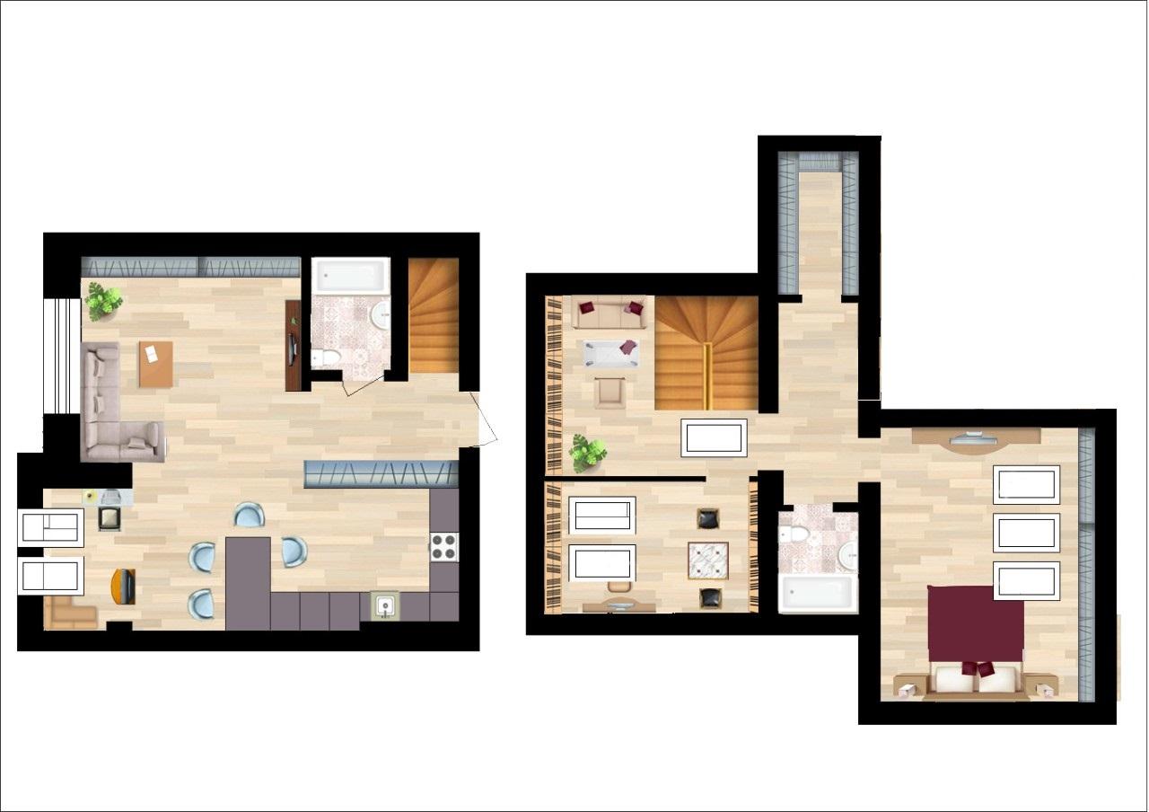 Дворівнева квартира 101,7м² (в житловому будинку)